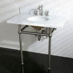 bathroom sink consoles vintage vintage carrara marble 36 inch console sink with metal