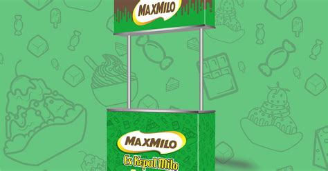 desain booth es kepal milo maxmilo kebun design