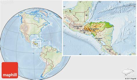 honduras location on world map physical location map of honduras lighten