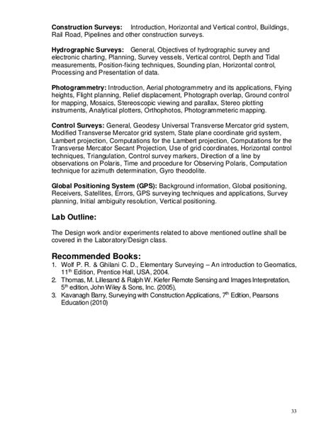 Photogrammetry Course Outline by Civil Engineering 2011 12