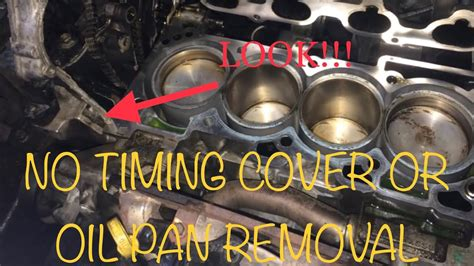 nissan head gasket  removing timing cover