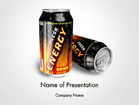 Energy Drink Powerpoint Template Backgrounds 14116 Poweredtemplate Com Energy Drink Design Template