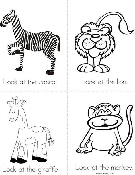 printable zoo animal book the zoo book twisty noodle