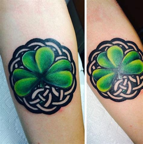 shamrock tattoos for men 50 shamrock designs for ireland ink ideas