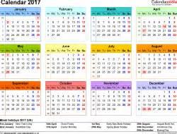 18 Month Desk Calendar Calendar 2017 Uk 16 Free Printable Pdf Templates