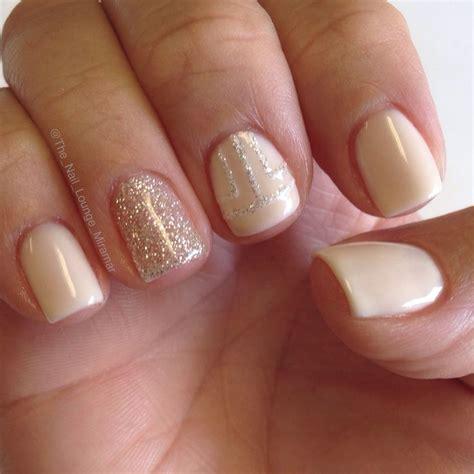 easy nail art with gel polish simple nude glitter gel nail art design nail art