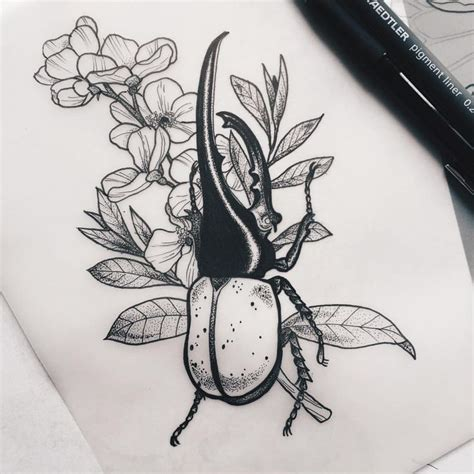 insect tattoo designs best 25 beetle ideas on