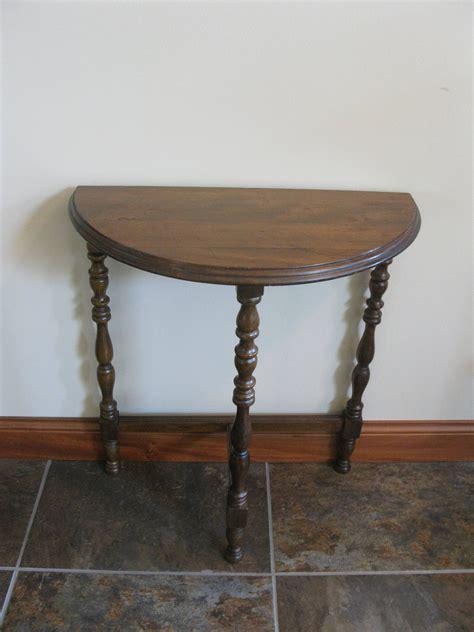 3 legged table vintage half moon side table 3 legged table small wood