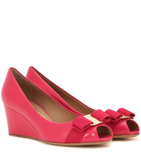 Are Ferragamo Shoes Comfortable by Salvatore Ferragamo Sissi Patent Leather Wedges