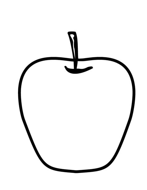 free printable coloring page of an apple free apple coloring pages az coloring pages