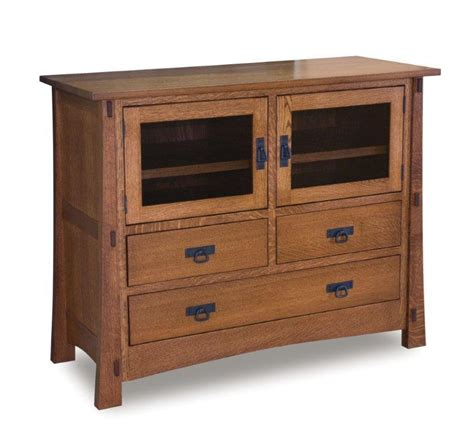 Handmade Mission Furniture - amish modesto mission tv stand