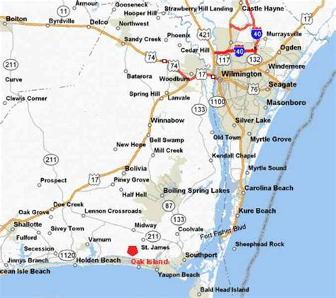 map of oak island carolina map of oak island map travel holidaymapq