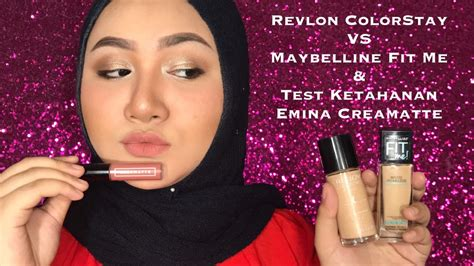 Foundation Revlon Indonesia revlon colorstay vs maybelline fitme emina creamatte