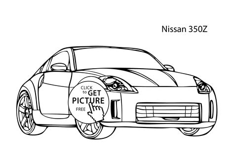nissan cars coloring pages super car nissan 350z coloring page cool car printable free
