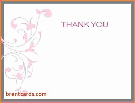 Wedding Thank You Card Template Publisher by Free Thank You Card Template For Word Free Card Design Ideas