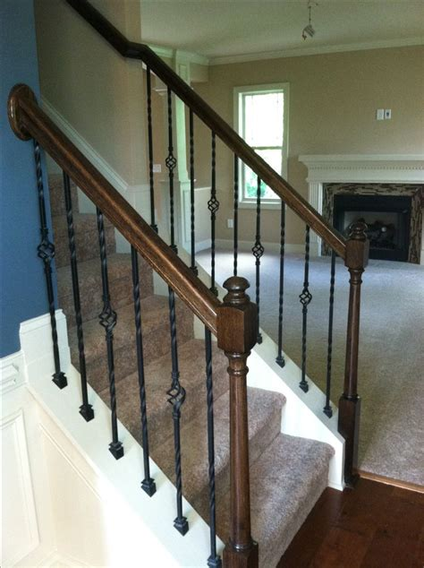 Metal Banister Rails by Best 25 Metal Stair Railing Ideas On Railing