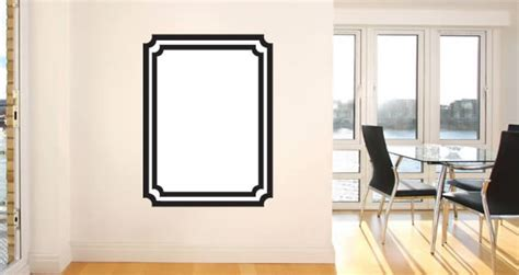 whiteboard wall stickers whiteboard frame wall decals dezign with a z