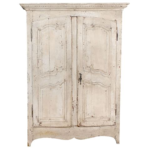 painted armoire wardrobe french painted chestnut armoire at 1stdibs