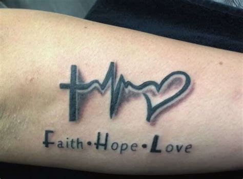 heartbeat tattoo with cross heartbeat tattoos for men ideas and inspiration for guys