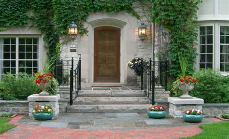 home entrance front entry reflections from wandsnider landscape architects