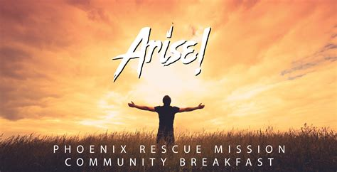 Arise A arise community breakfast rescue mission