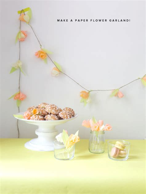 How To Make A Paper Flower Garland - diy easy crepe paper garland