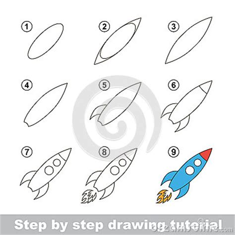 Tete De Cerf 1005 by Drawing Tutorial How To Draw A Rocket Stock Vector