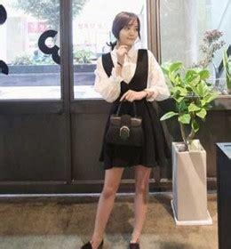 Dress Putih Lengan Panjang Polkadot Hitam Import Korea Fit To L jaket lucu wanita korea 2016 model terbaru jual murah import kerja