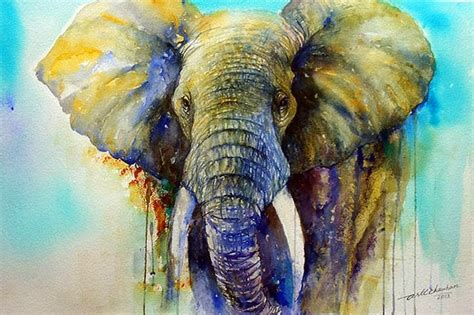 painting elephant arti s as i see it gentle elephant