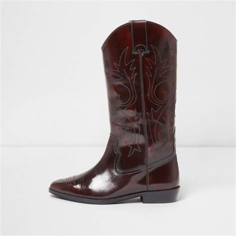 patent knee high western boots boots shoes