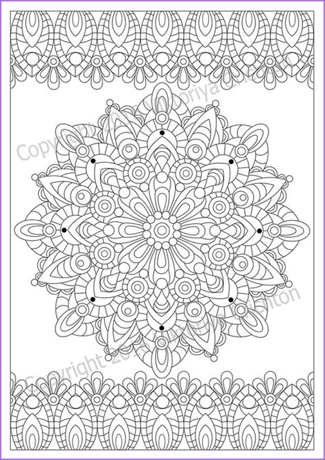 mandala coloring pages a4 print a4 paper paint the mandala zendala as you like