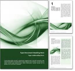 royalty free abstract microsoft word template in green