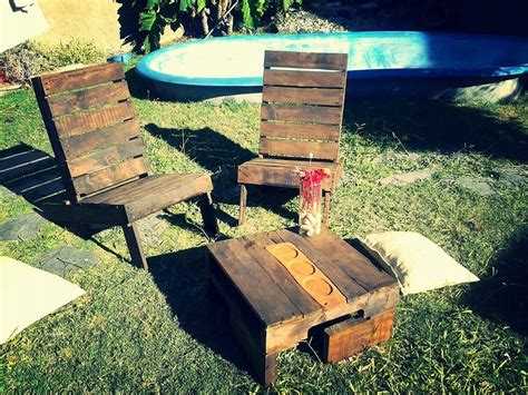 Low Patio Chairs Rustic Pallet Outdoor Chairs And Coffee Table 99 Pallets