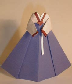 Korean Origami - origami korean traditional dress origami and papercraft
