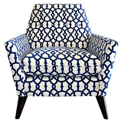 navy blue pattern accent chair accent chairs living room furniture one
