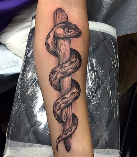 rod of asclepius tattoo designs rod of asclepius completed by mateorobles tattoo let s