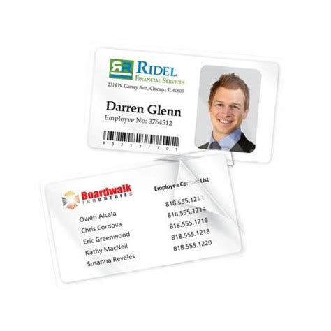 avery laminated id card template avery self laminated business cards 2 x 3 12 white pack of