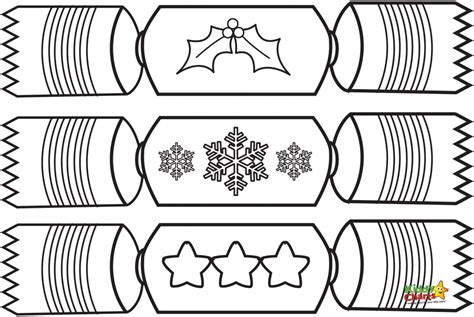 colouring pages of christmas crackers crackers christmas