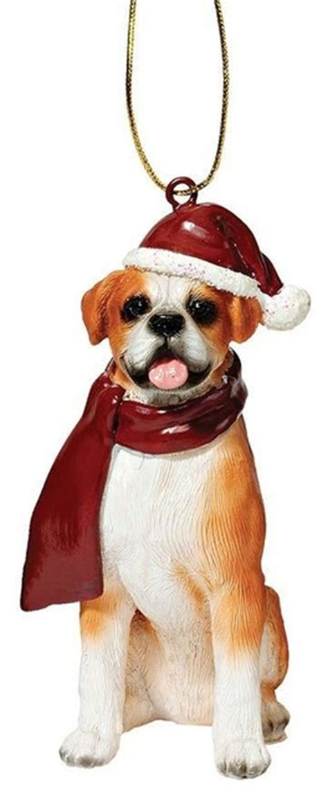 boxer holiday dog ornament sculpture contemporary