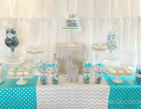 baby shower table elephant baby shower dessert table brina and jenah s