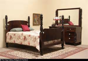 empire bedroom set empire 1900 antique carved mahogany 2 pc size