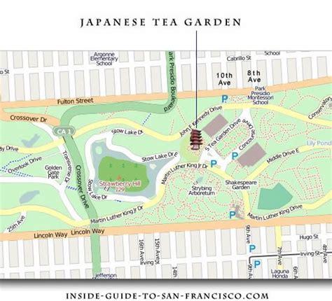 japanese garden san francisco map japanese tea garden san francisco