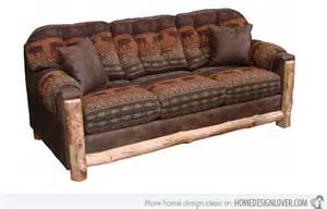 rustikales sofa 15 sofa designs for rustic style living rooms home