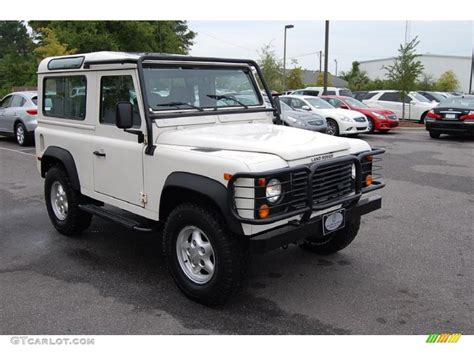 white land rover defender 90 1997 alpine white land rover defender 90 hard top