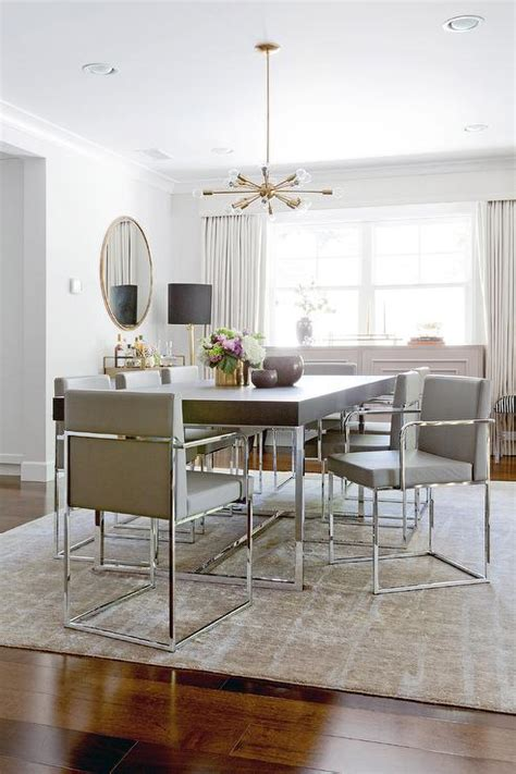 leather and chrome dining chairs chrome and wood dining table design ideas