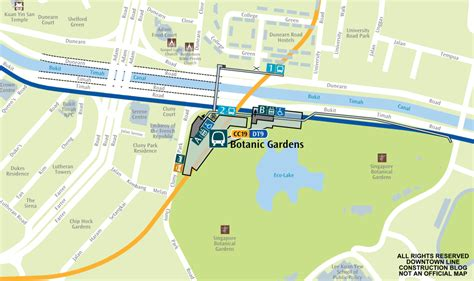Downtown Line Construction Botanic Gardens Botanical Gardens Singapore Map