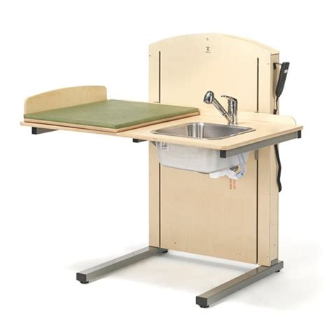 Height Changing Table Height Adjustable Changing Table Lyfta Incl R H Sink 1200x800 Mm Aj Products