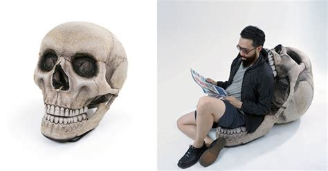 The Angular Skull Armchair by 10 Cool And Chairs Inspired By Skull And Skeleton