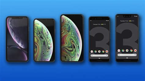 pixel 3 and 3 xl vs iphone xr xs and xs max