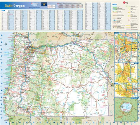 map of oregon interstates large roads and highways map of oregon state with national